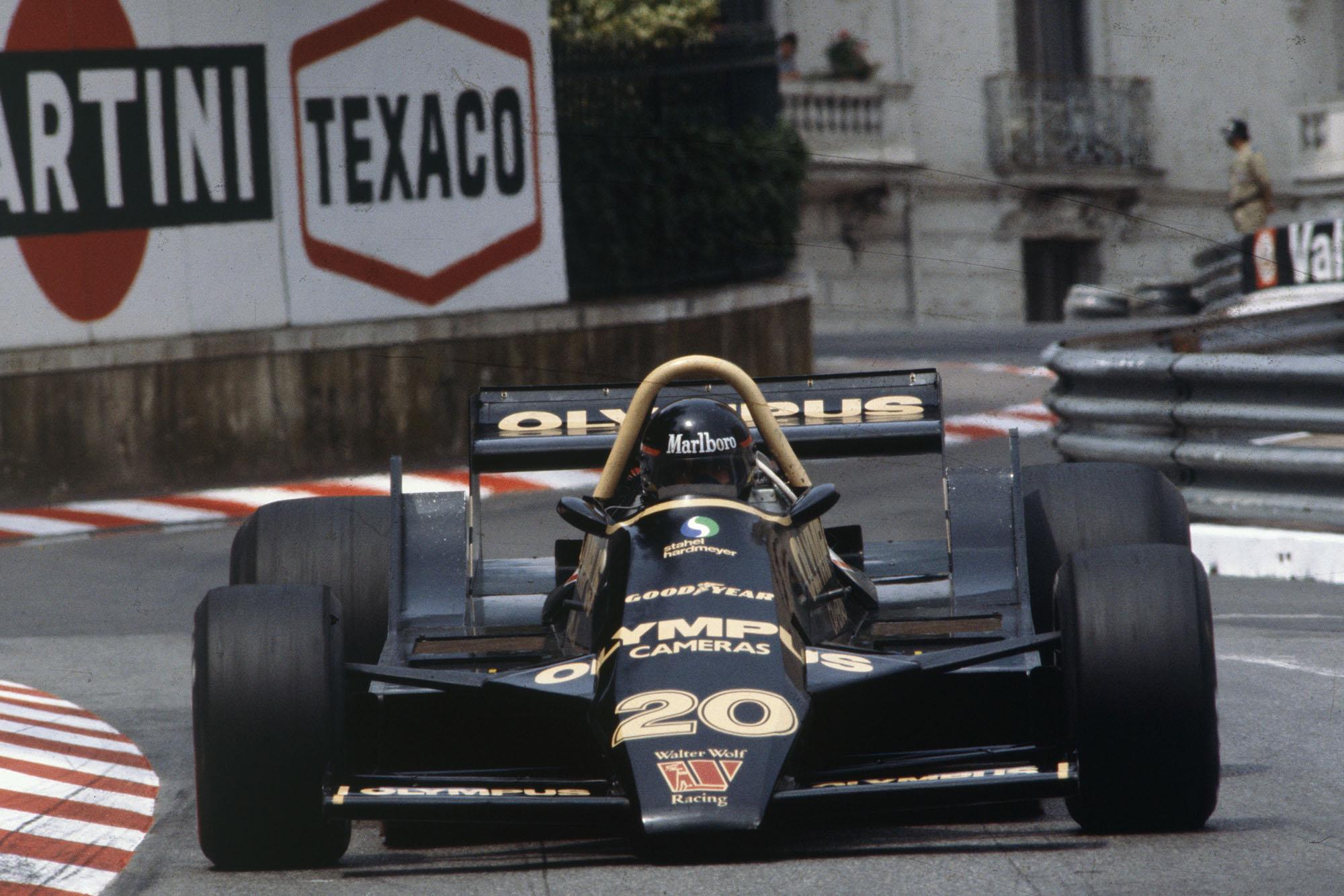 James Hunt (Wolf) driving at the 1979 Monaco Grand Prix.