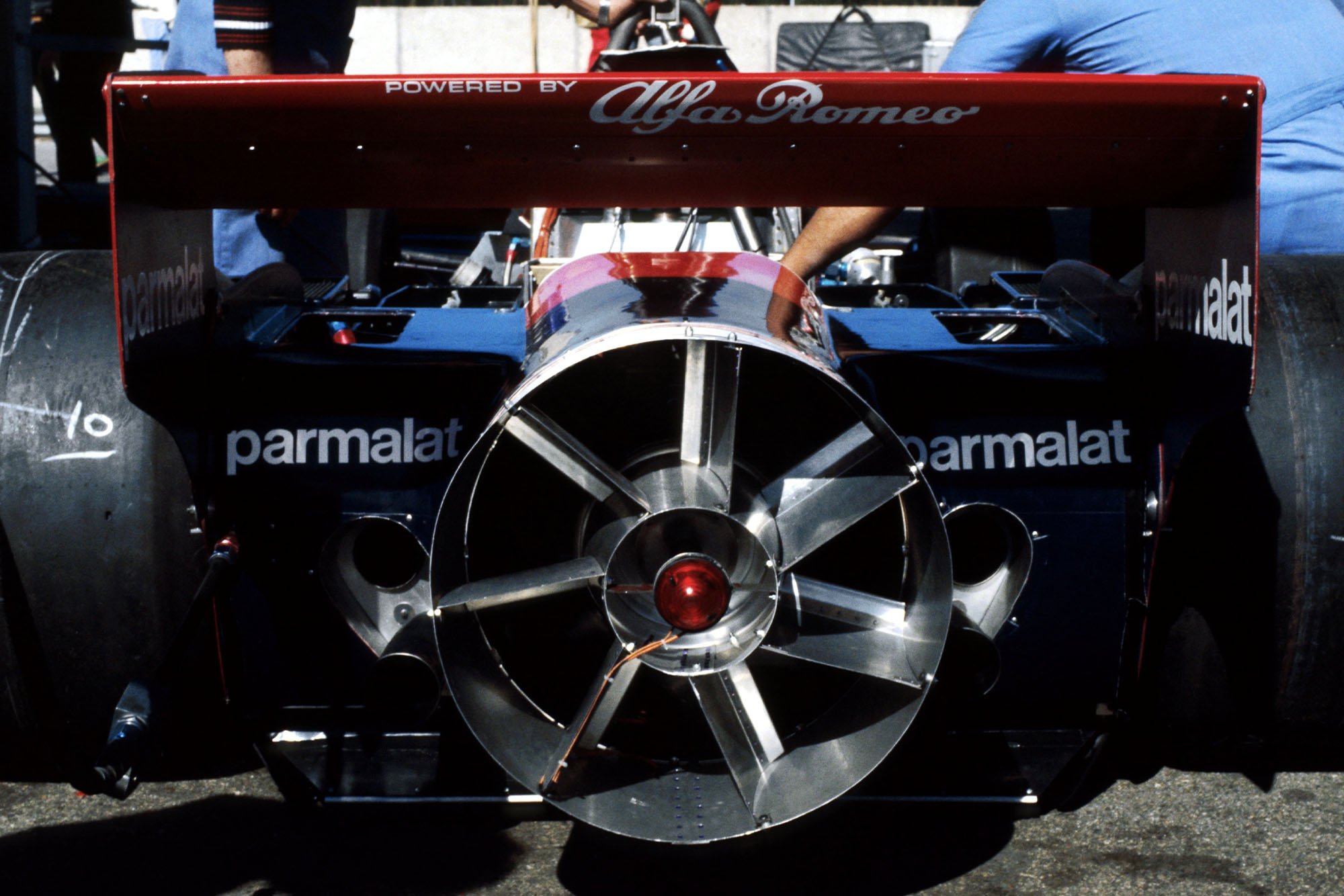 A close-up of the Brabham 'fan-car' 1978 Swedish Grand Prix, Anderstorp.