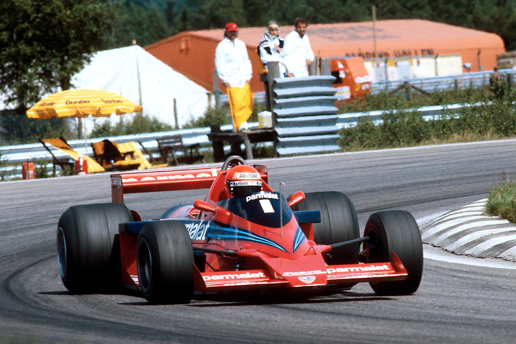 Niki Lauda (Brabham) at the 1978 Swedish Grand Prix, Anderstorp.