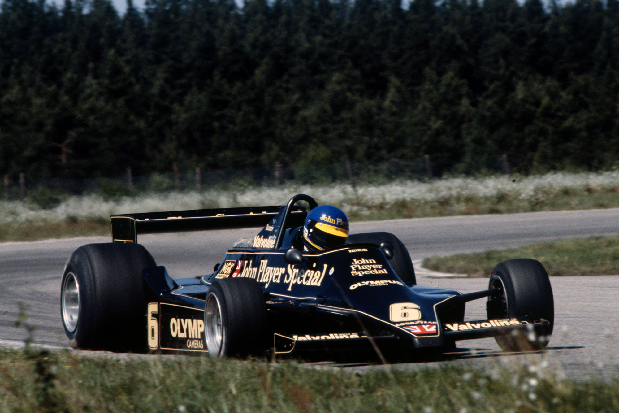 Ronnie Peterson (Lotus) at the 1978 Swedish Grand Prix, Anderstorp.