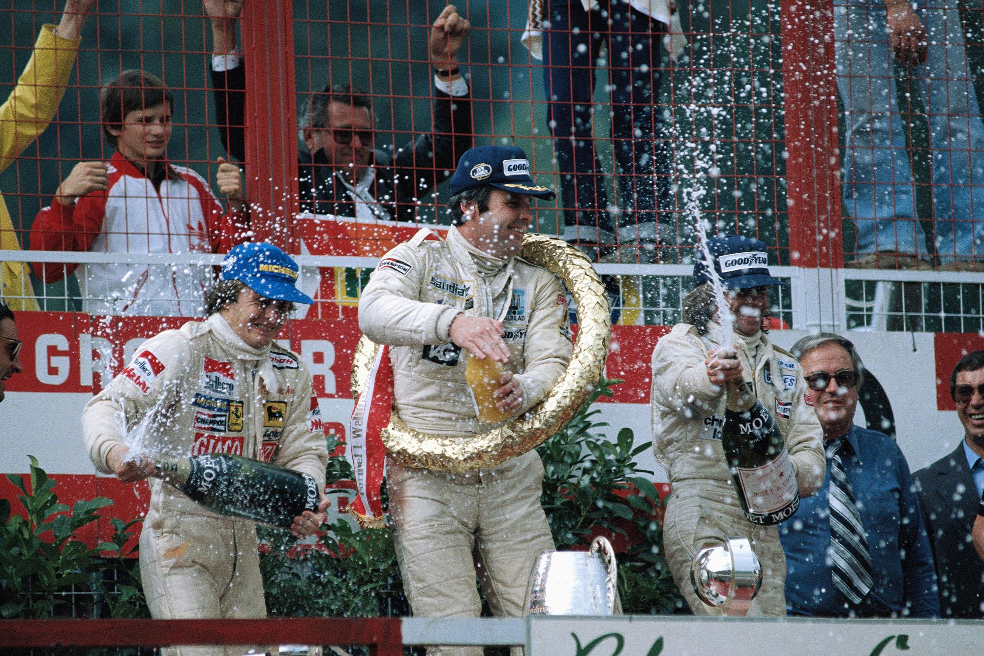 1979 Austrian GP podium