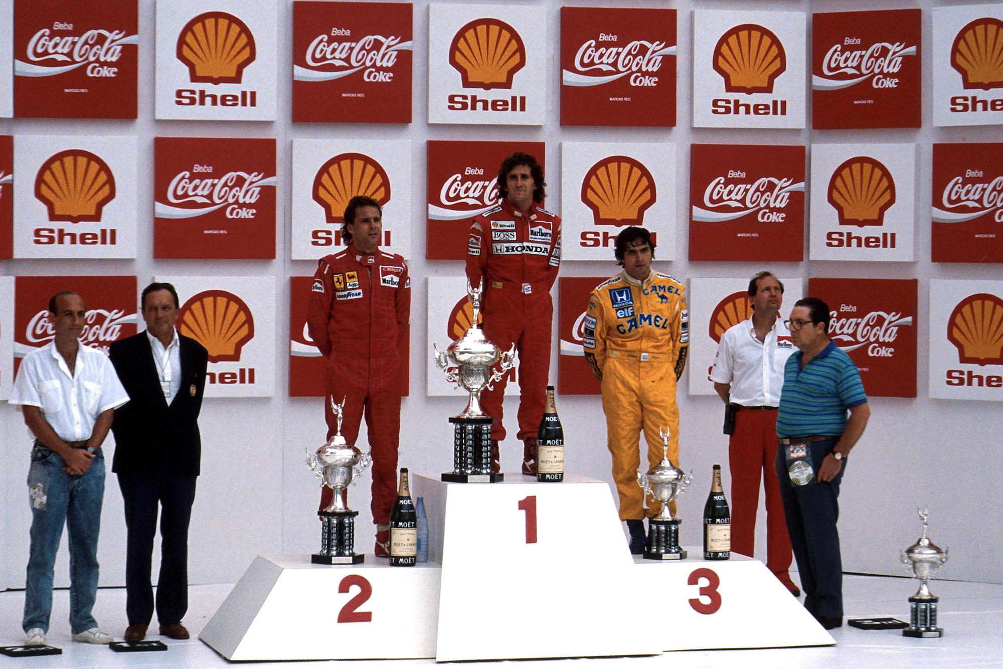 1988 BRA GP podium