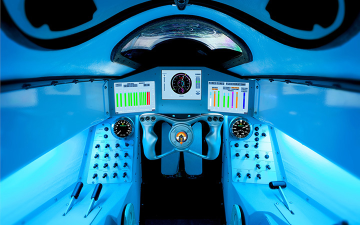 Inside Bloodhound's cockpit