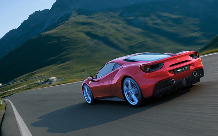 Driving Ferrari's 488 GTB