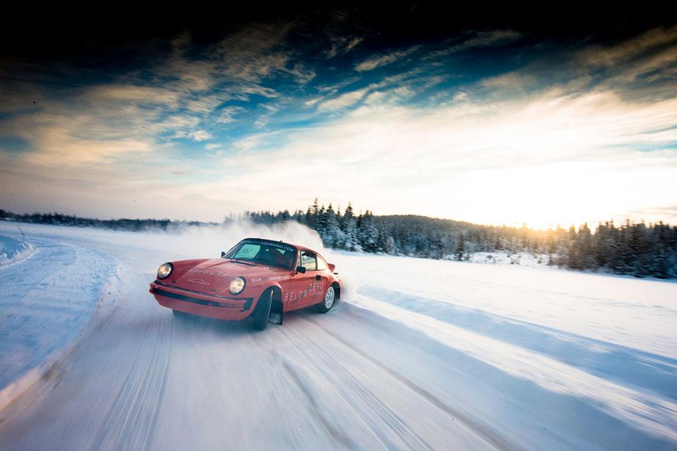 Tuthill Porsche Below Zero ice driving