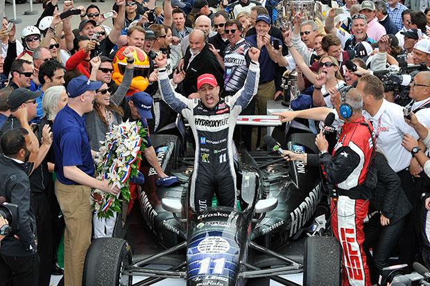 Tony Kanaan wins the Indianapolis 500