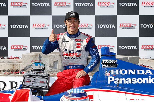 Takuma Sato wins at Long Beach