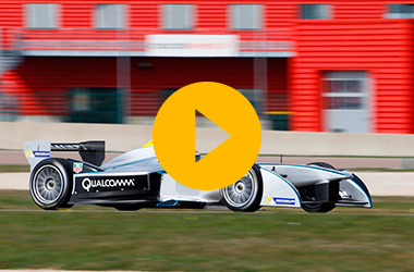 Trulli tests Formula E car