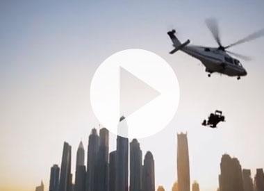 Donuts on the Burj Al Arab's helipad