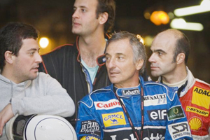Karting with Herbert and Patrese