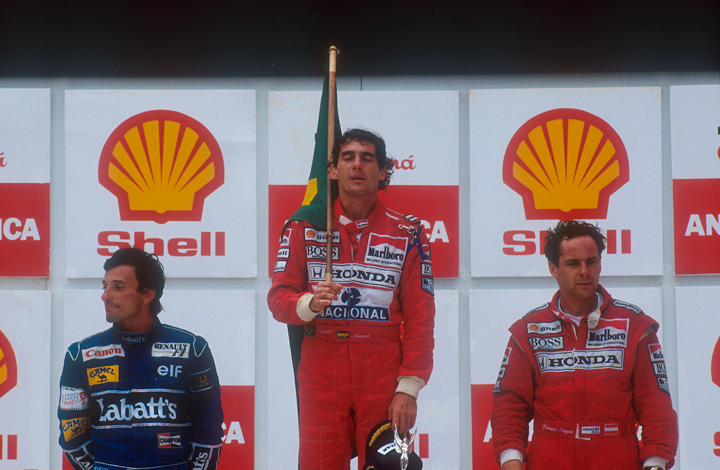 Wins for Senna and Prost, this week in motor sport