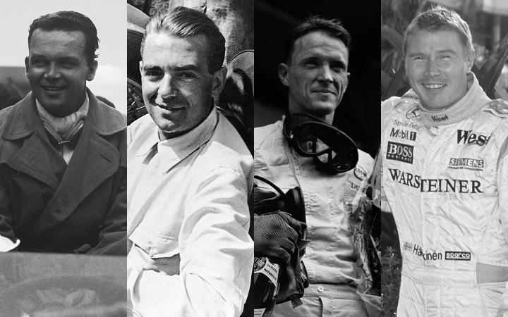 Caracciola, Rosemeyer, Gurney and Häkkinen