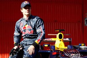 Sebastien Loeb tests the Red Bull
