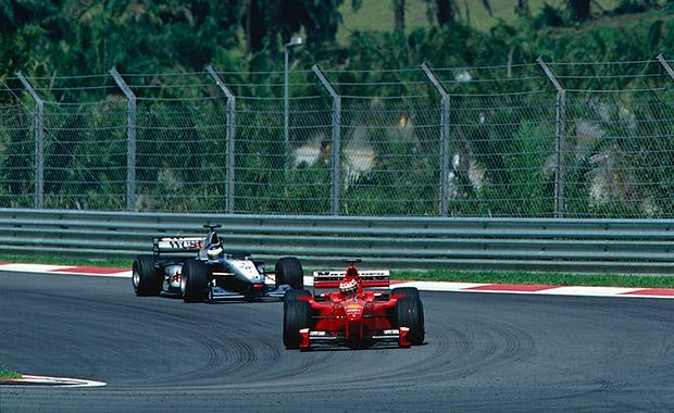 Schumacher at his sporting best