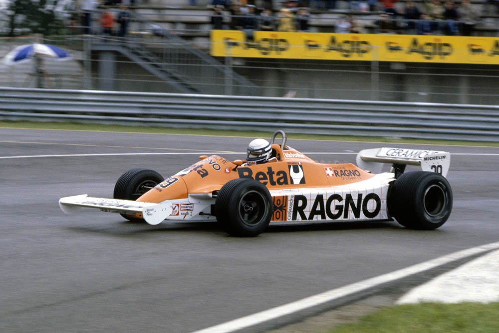 Riccardo Patrese in his Arrows A3-Ford.