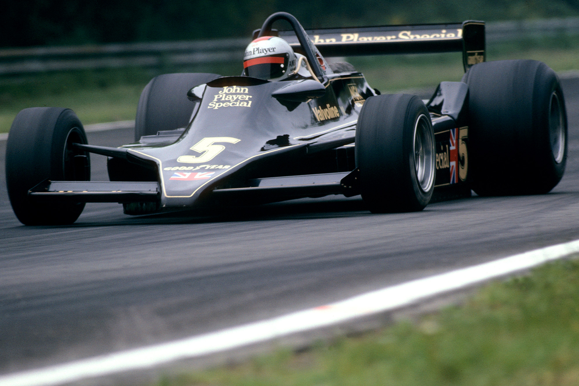 Mario Andretti in the Lotus 79 during the 1978 Belgian Grand Prix at Zolder