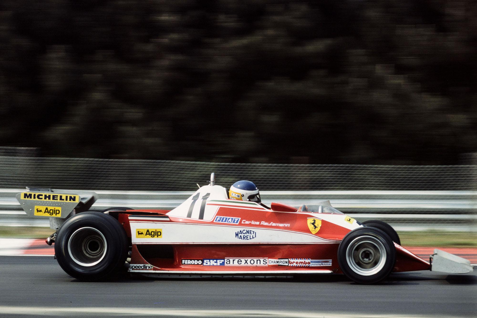 Carlos Reutemann (Ferrari) driving at the 1978 Belgian Grand Prix, Zolder.