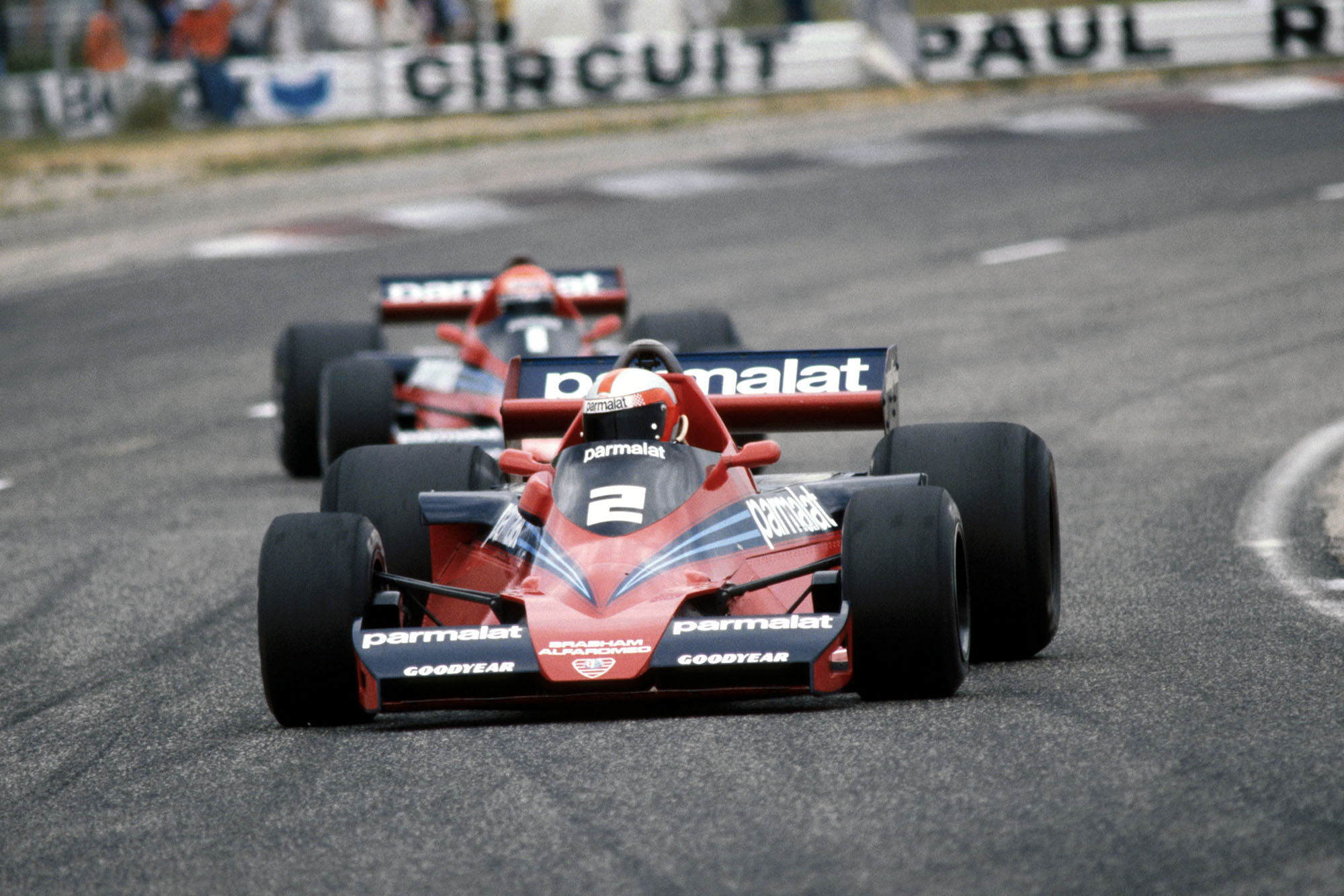 John Watson (Brabham) competing at the 1978 French Grand Prix, Paul Ricard.