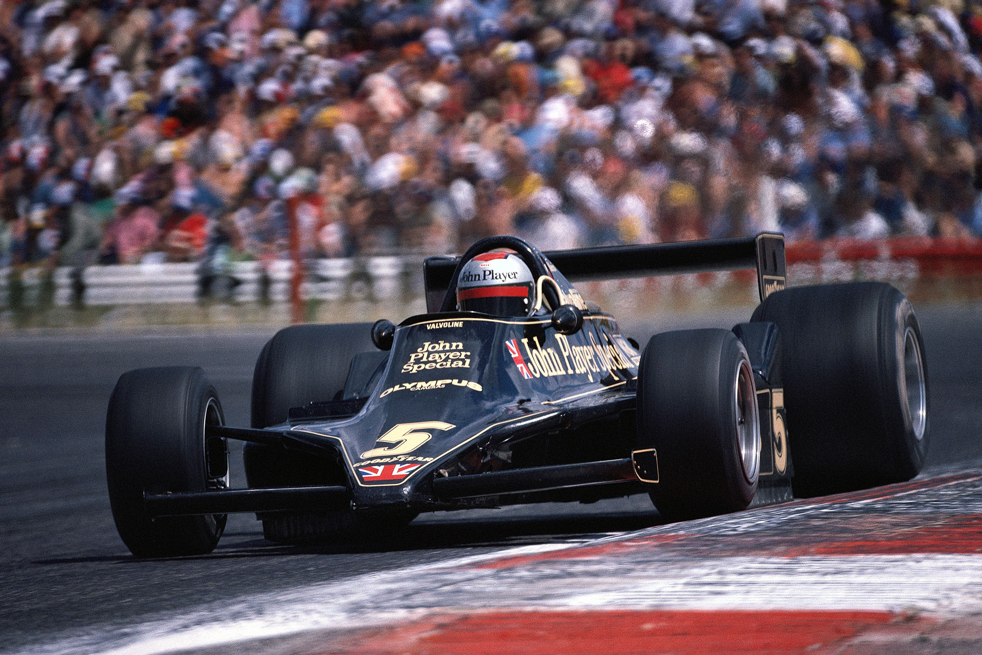 Mario Andretti (Lotus) driving at the 1978 French Grand Prix, Paul Ricard.
