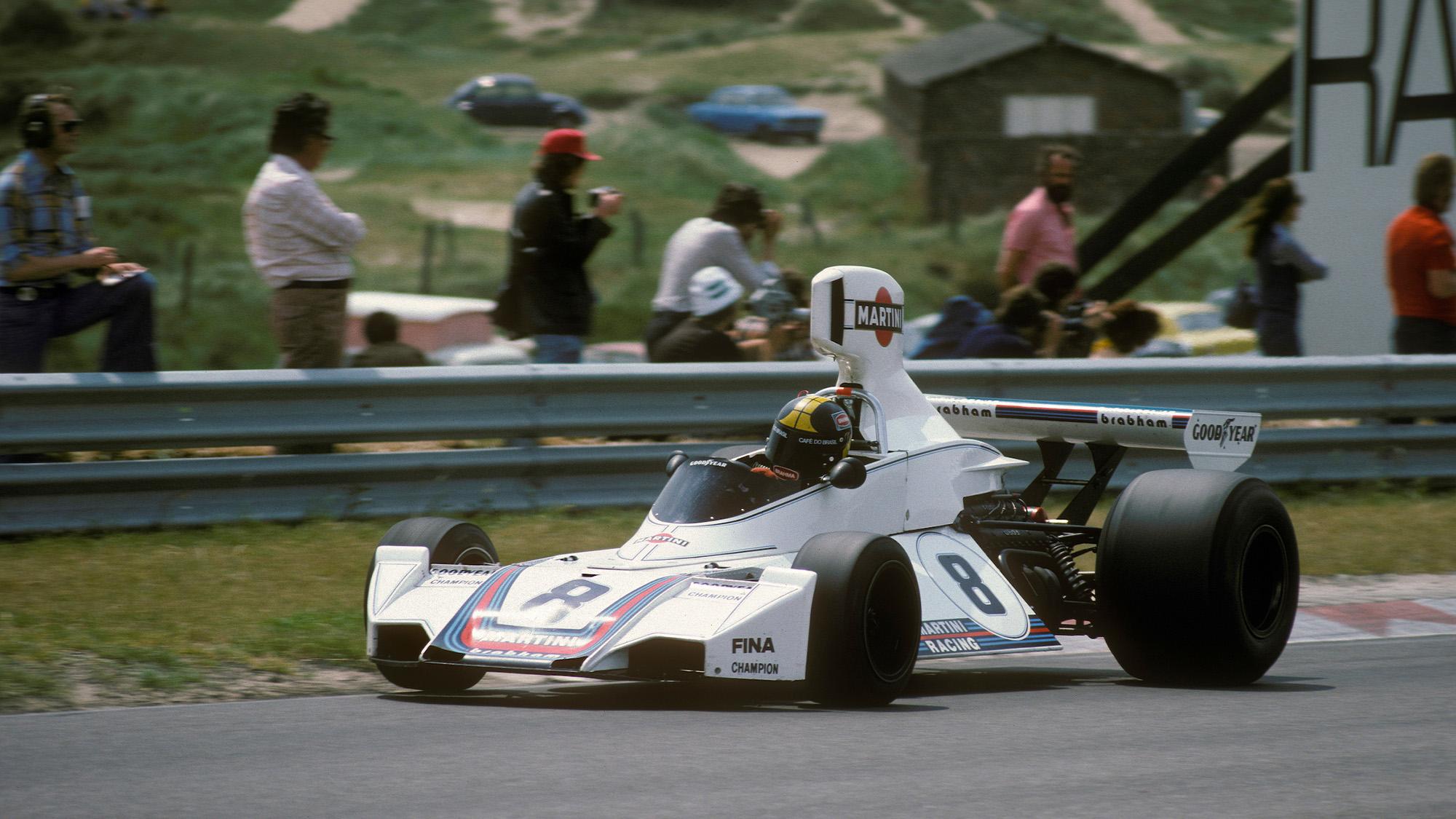 Carlos Pace in the 1975 Dutch Grand Prix at Zandvoort