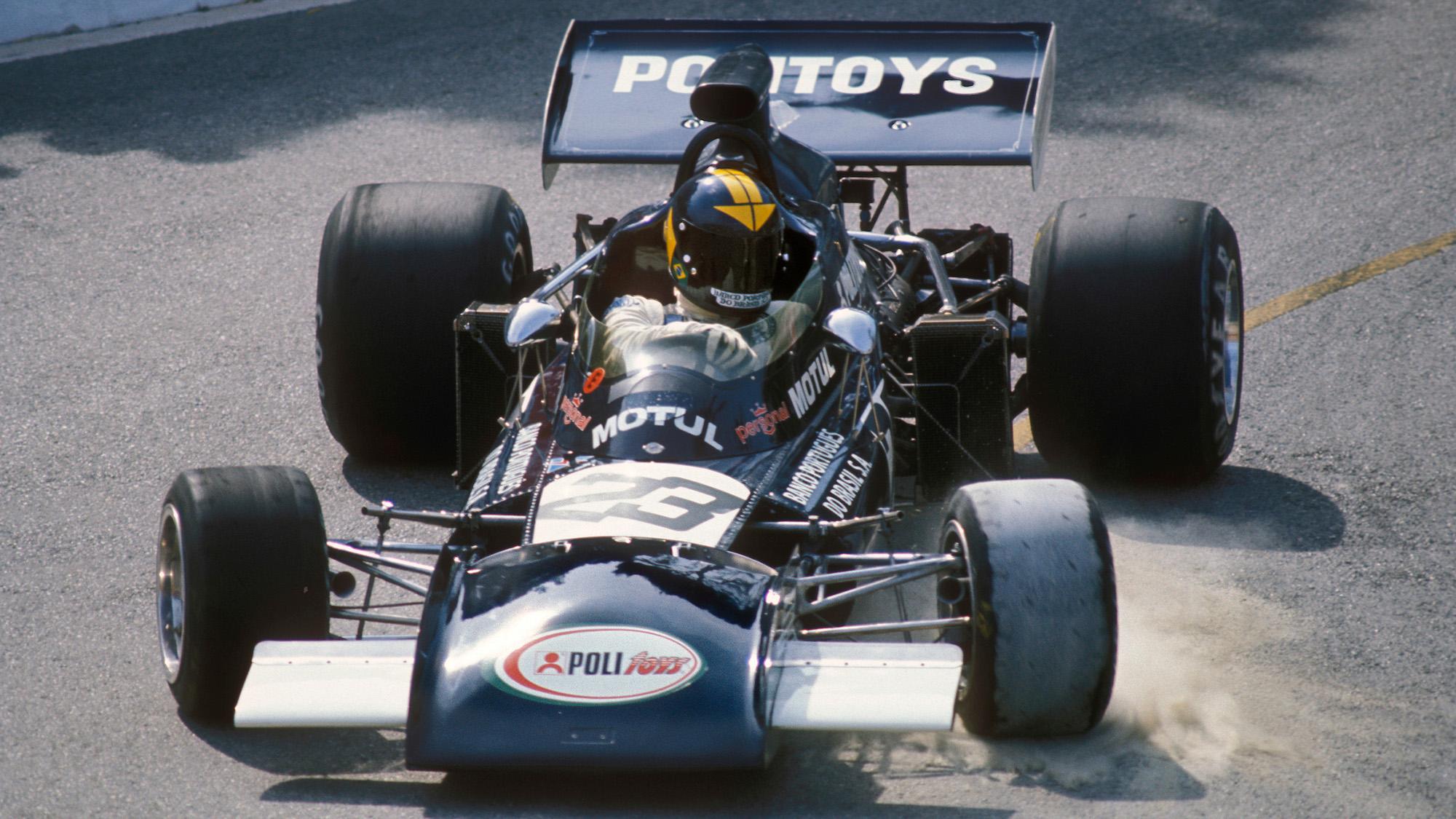 Carlos Pace in the Williams Ford at the 1972 Monaco Grand Prix