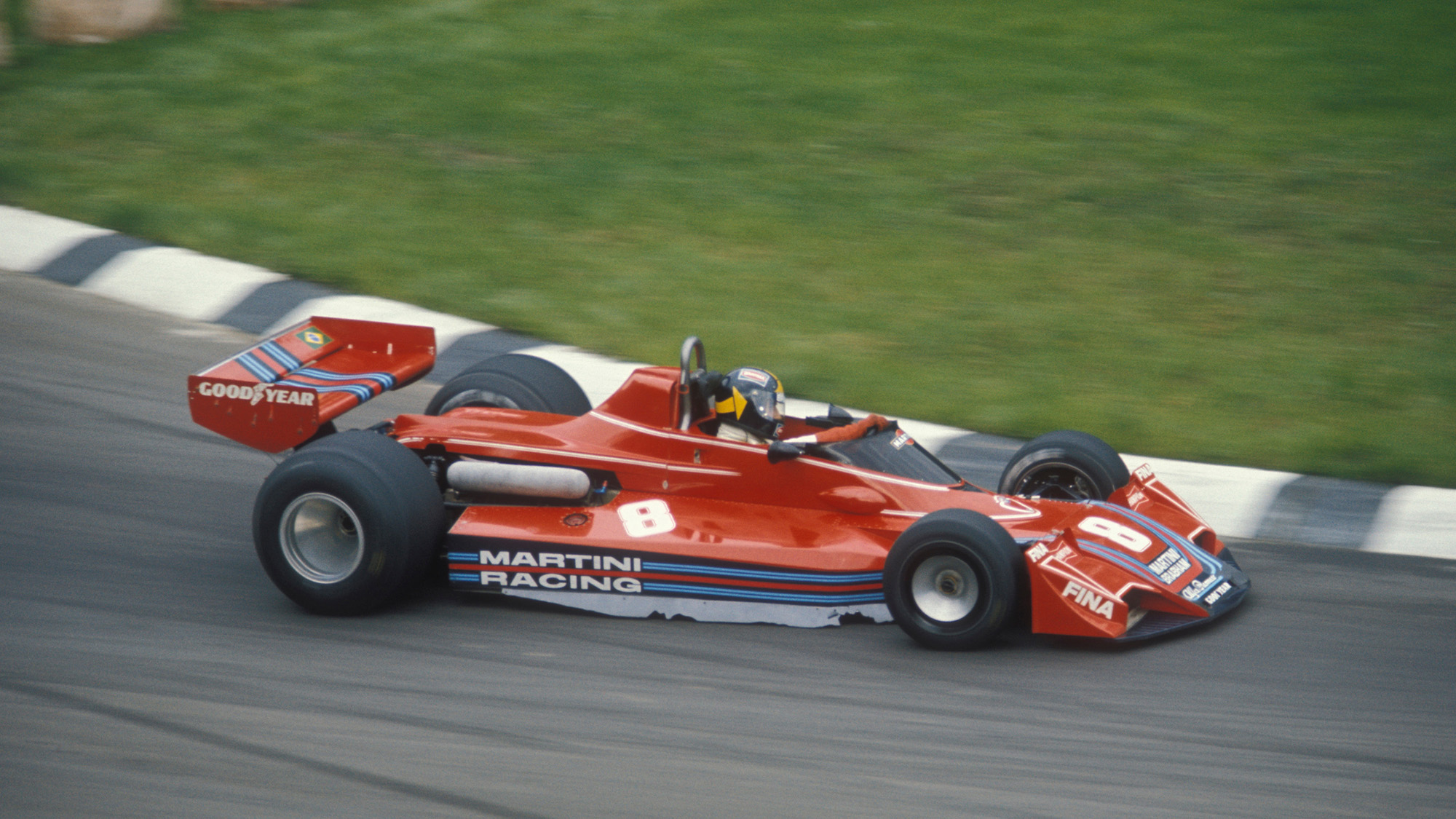 Carlos Pace in the Brabham Alfa Romeo at the 1976 Italian Grand Prix