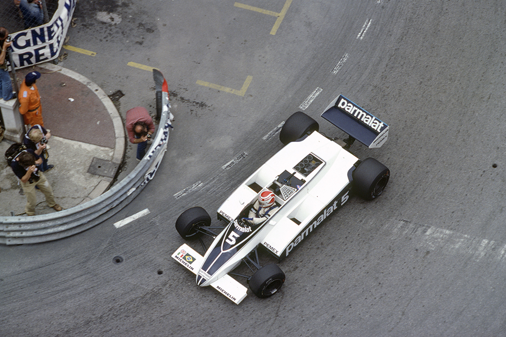Nelson Piquet in his Brabham BT49C-Ford Cosworth.