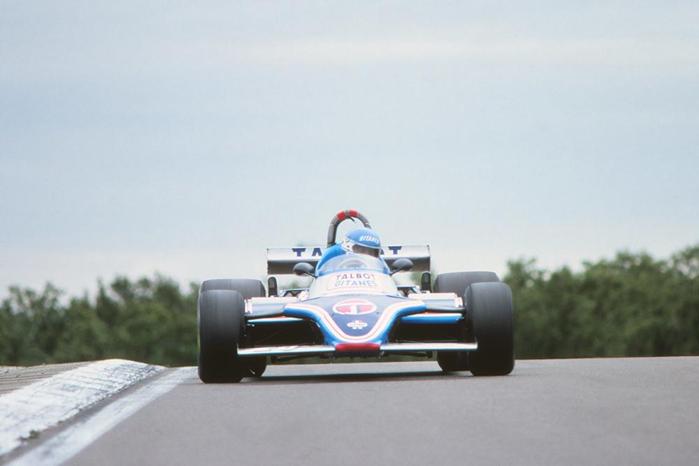 Patrick Tambay in his Talbot-Ligier JS17 Matra.