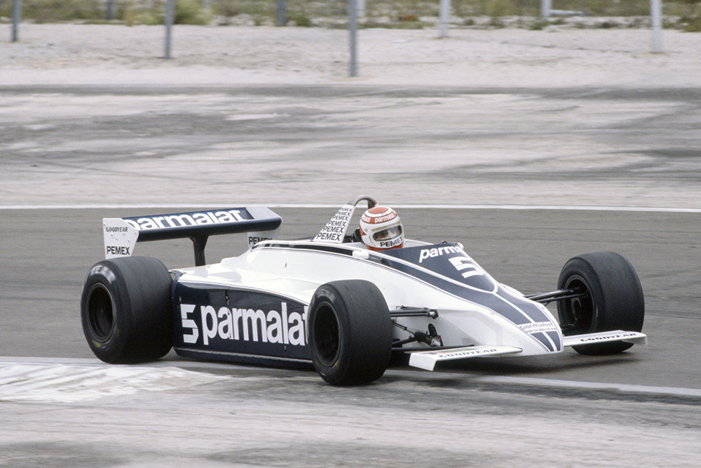 Nelson Piquet in a Brabham BT49C-Ford Cosworth.