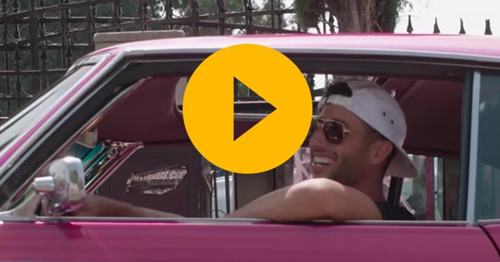 Watch: Ricciardo's LA summer break