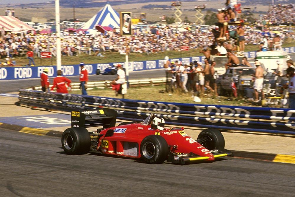 Stefan Johansson at the wheel of his Ferrari 156/85.