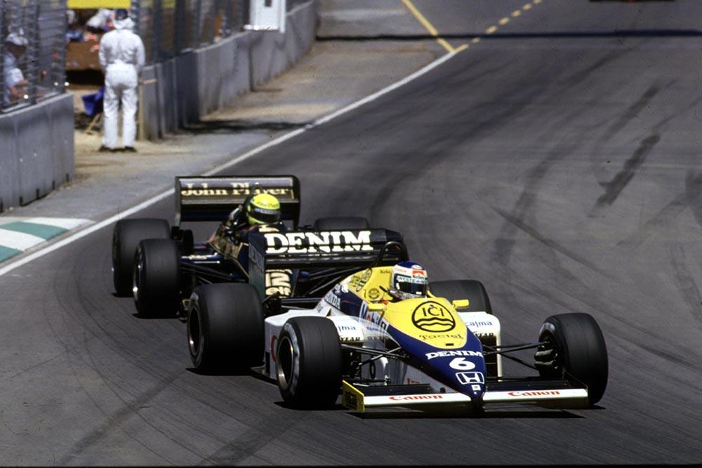 Keke Rosberg leads Ayrton Senna.
