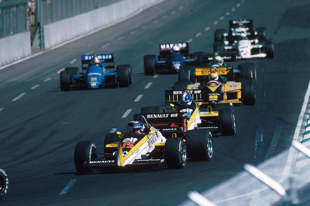 Patrick Tambay in his Renault RE60B.