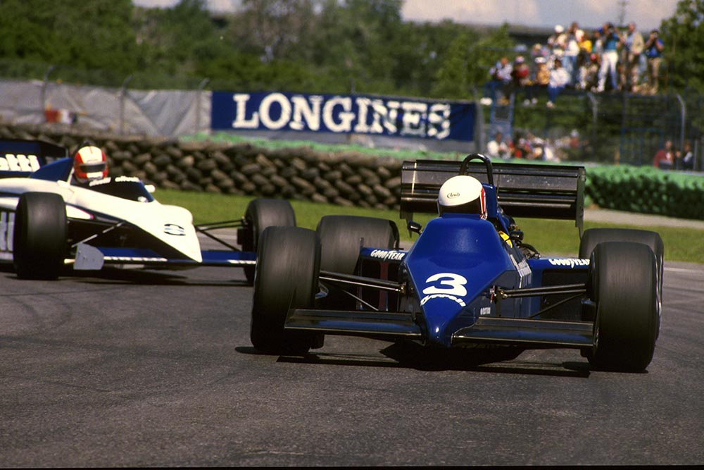 Martin Brundle finished 12th in his Tyrrell 012.