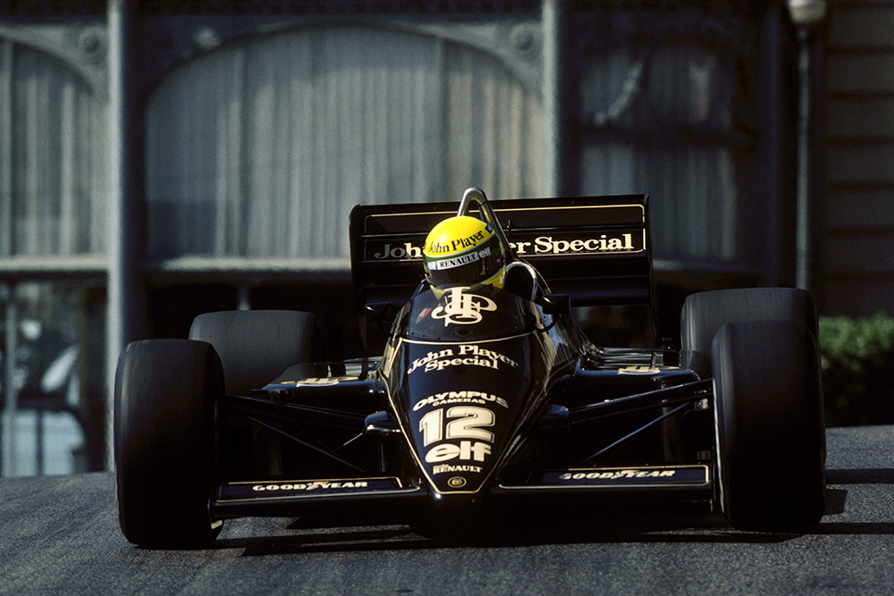 Ayrton Senna in his Lotus 97T claimed a sensational pole position that left several of his peers rather irate!