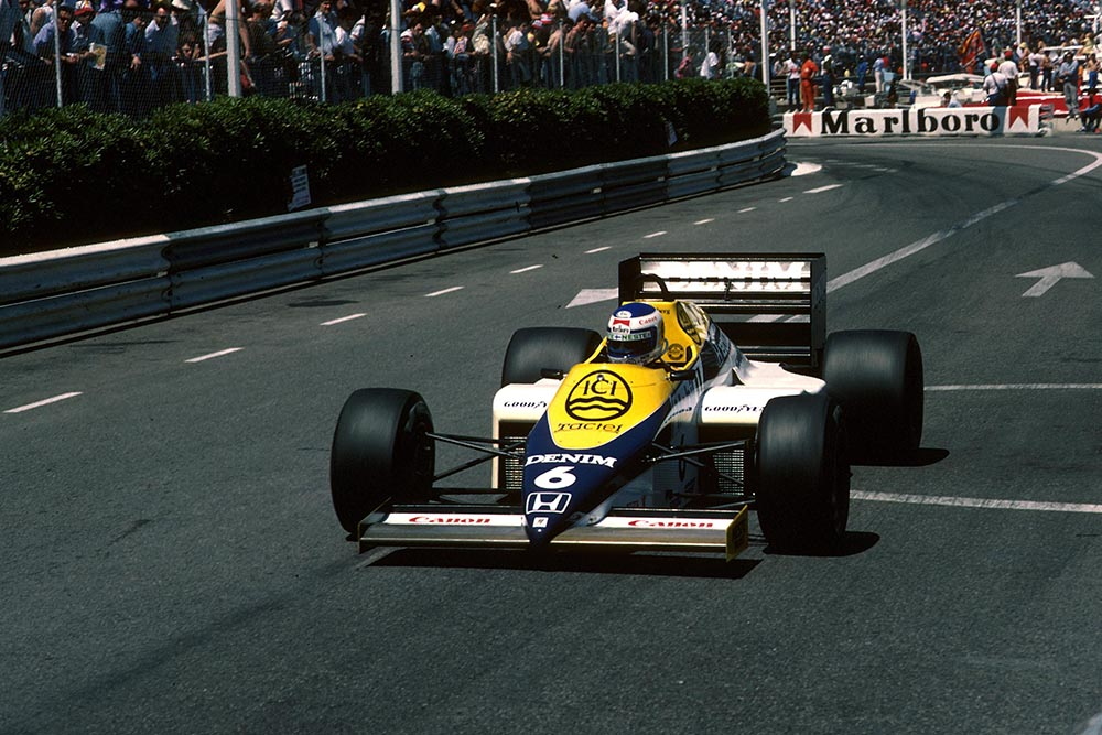 Keke Rosberg driving his Williams FW10