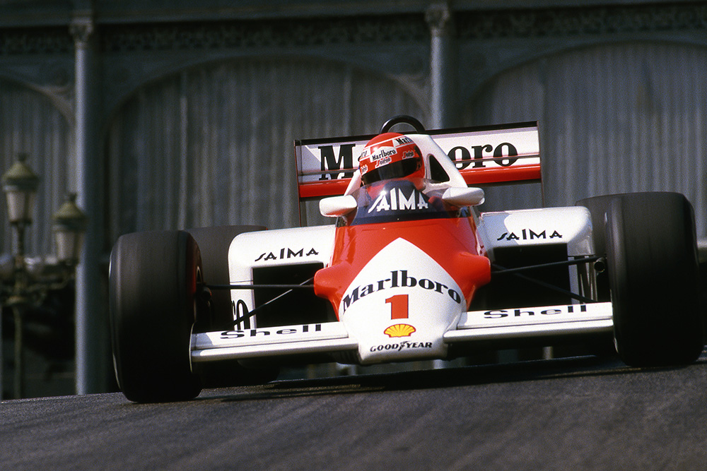 Niki Lauda in his McLaren MP4/2B.