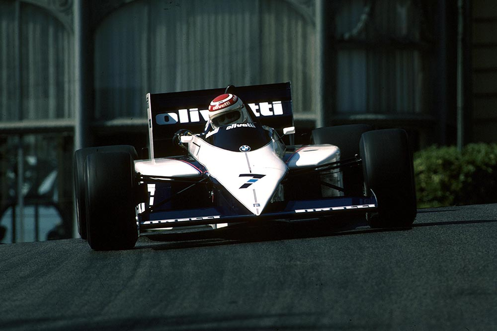 Nelson Piquet did not finish in his Brabham BT54.