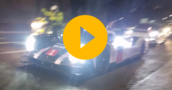 Watch: Webber's 919 takes to the street