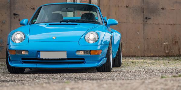 Driving the £1.8 million Porsche