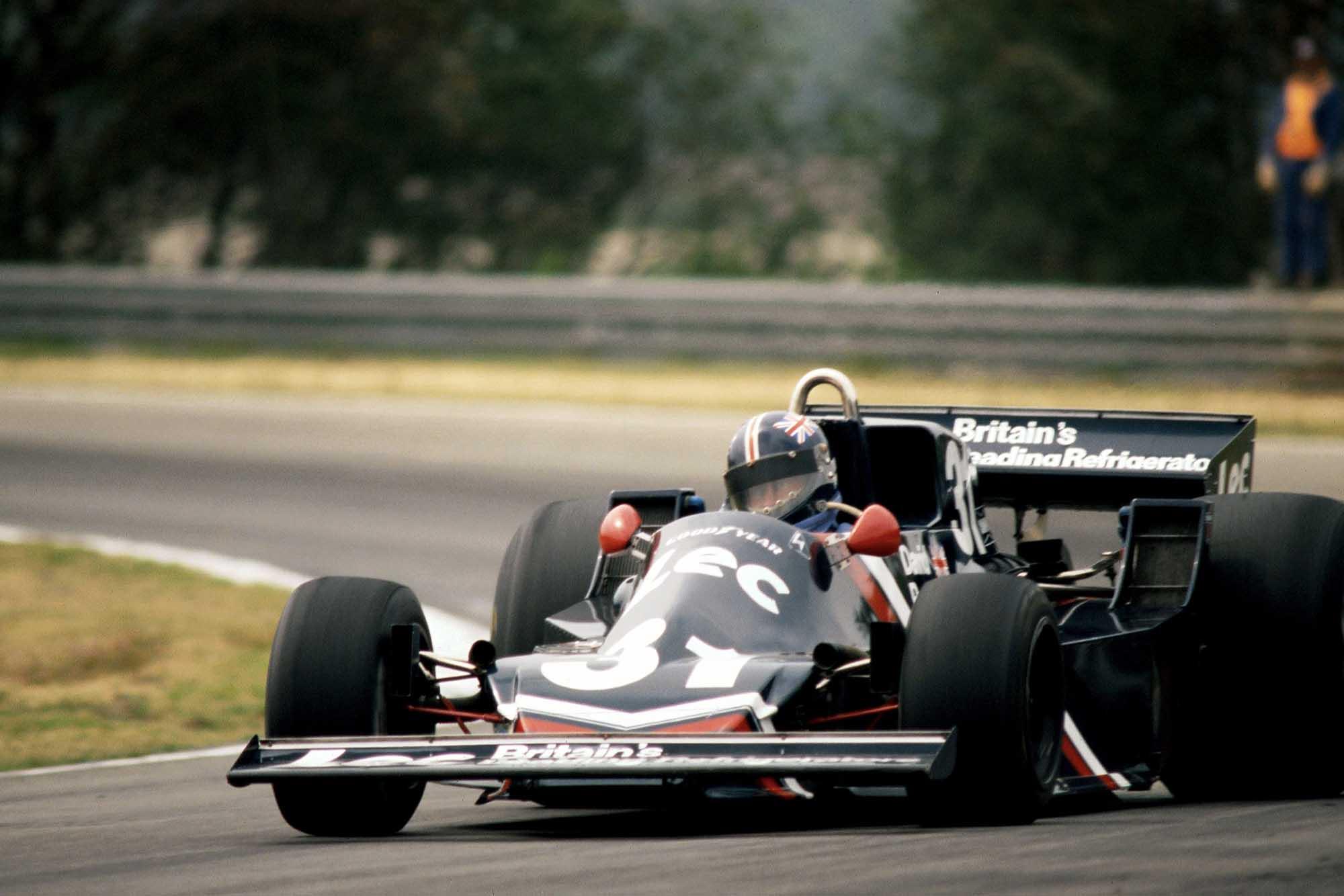 David Purley in his Lec Refrigeration at the 1977 Belgium Grand Prix