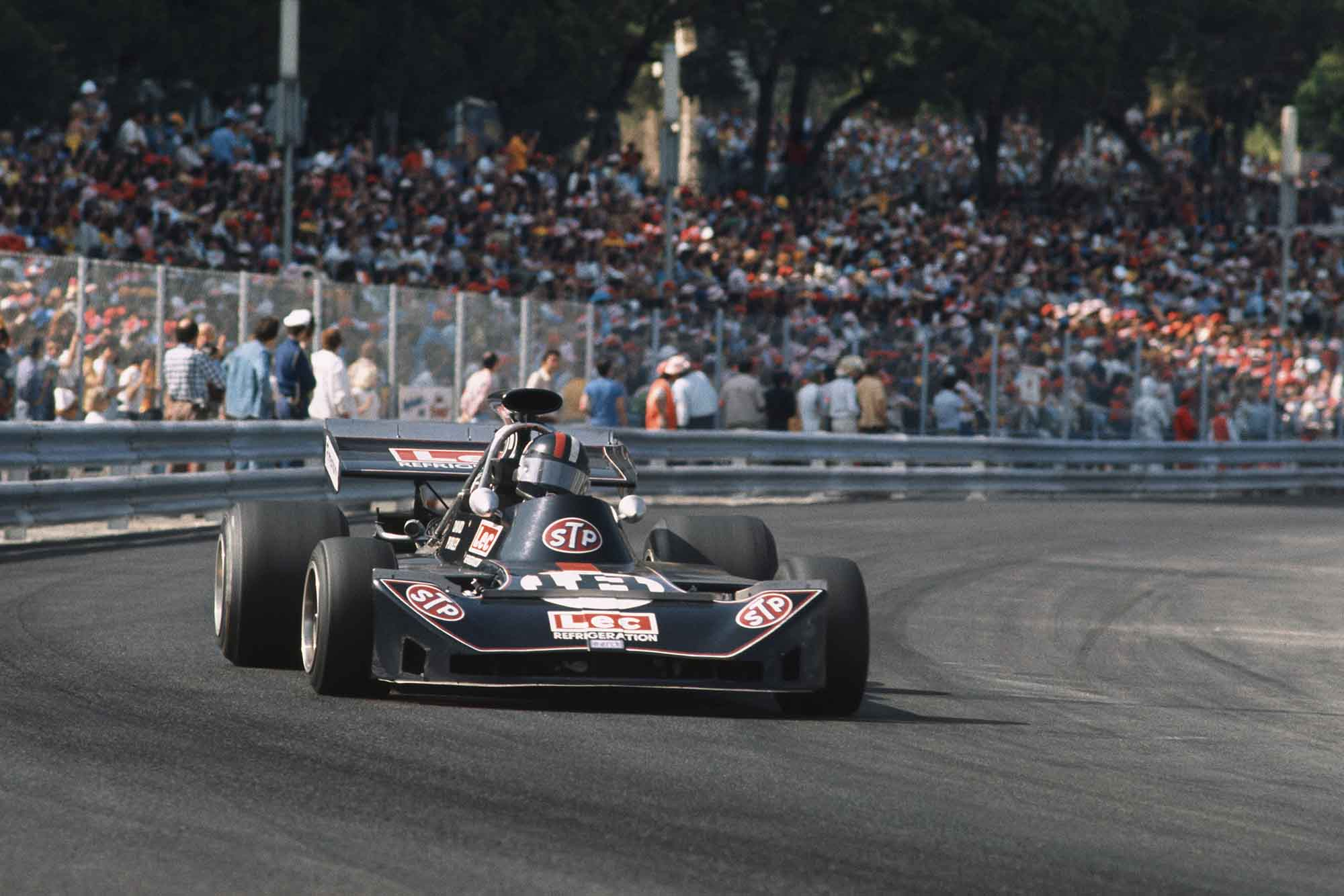 David Purley in his Lec at the 1973 Monaco Grand Prix.