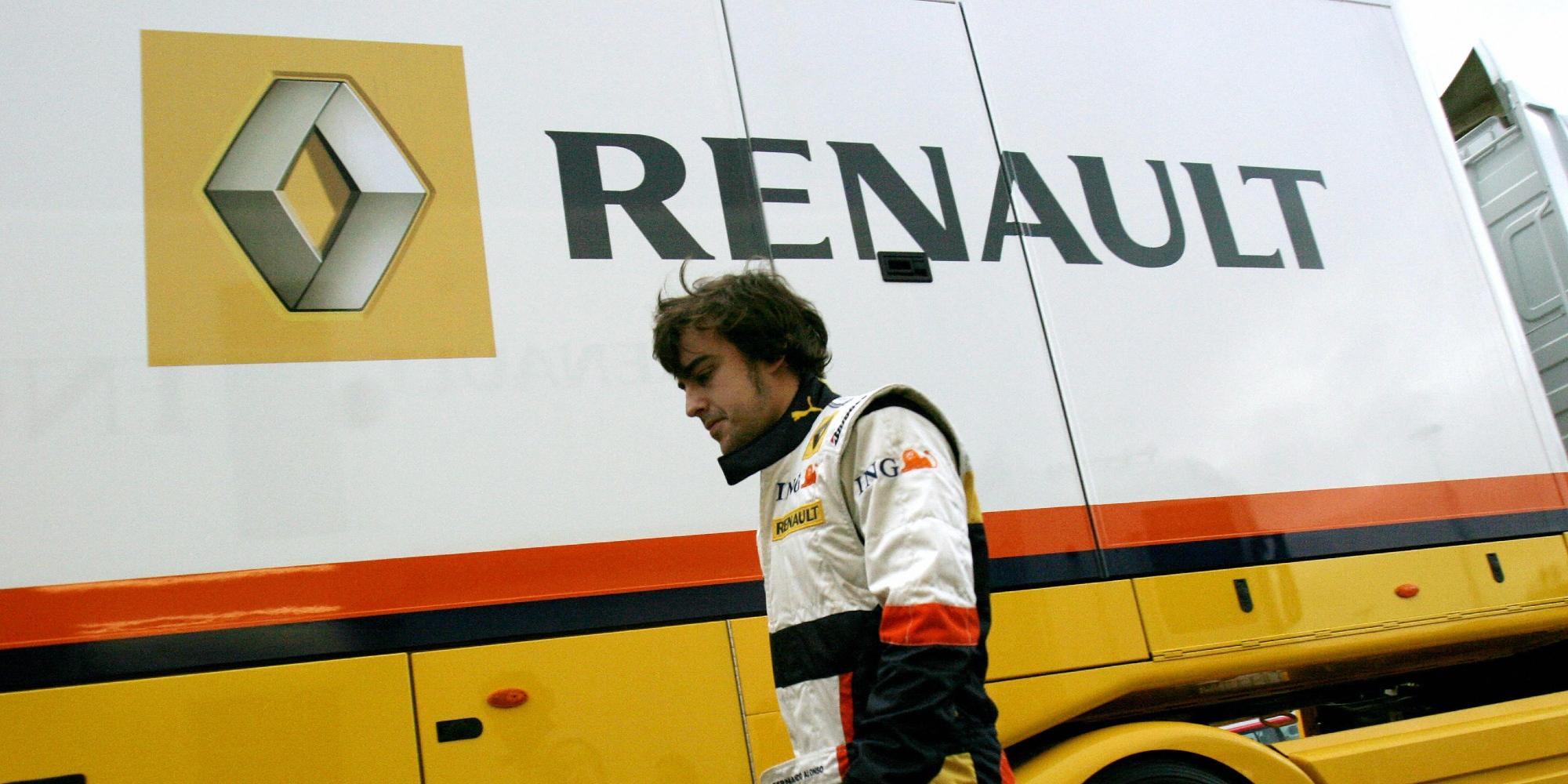 Fernando Alonso, 2008 F1 testing