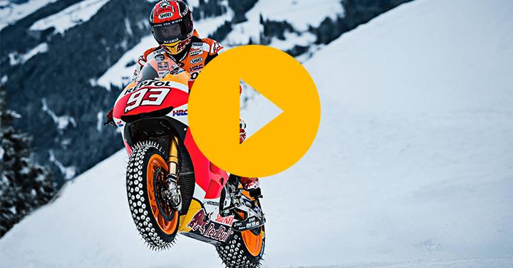 Watch: Marquez's MotoGP snow ride