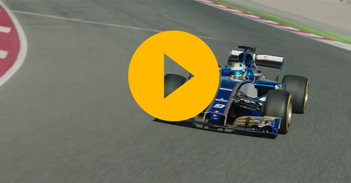 New Sauber hits the track