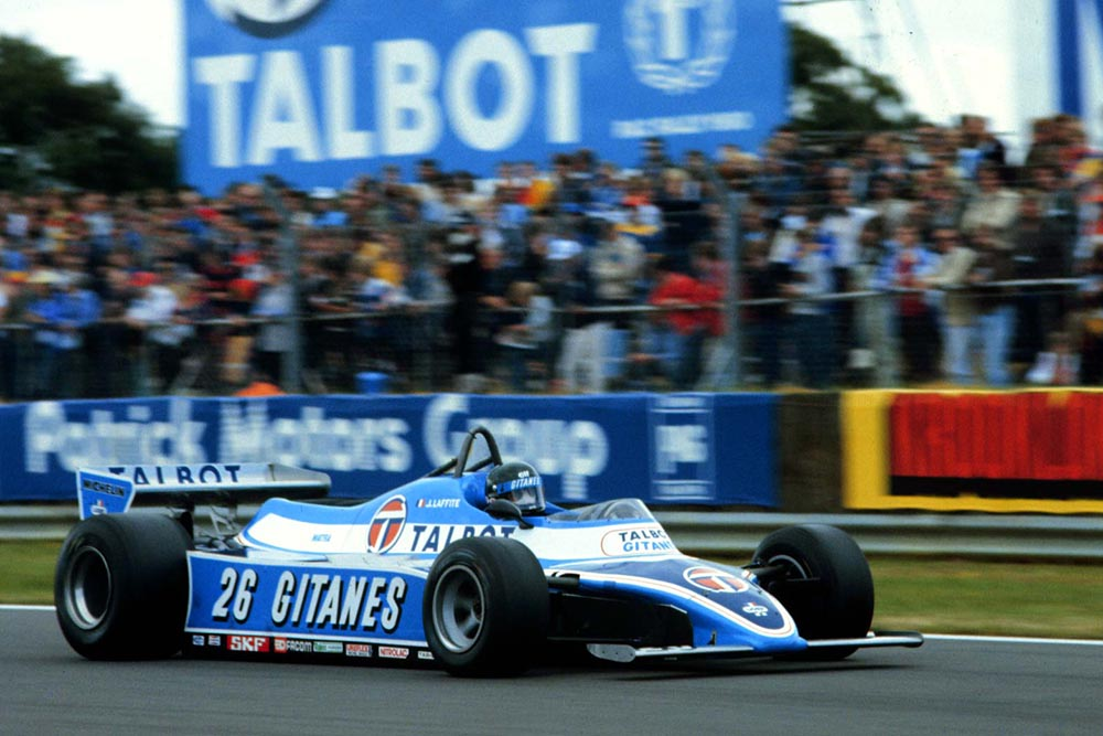 Third placed Jacques Laffite.
