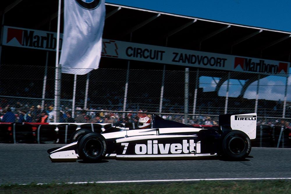 Nelson Piquet in his Brabham BT54.