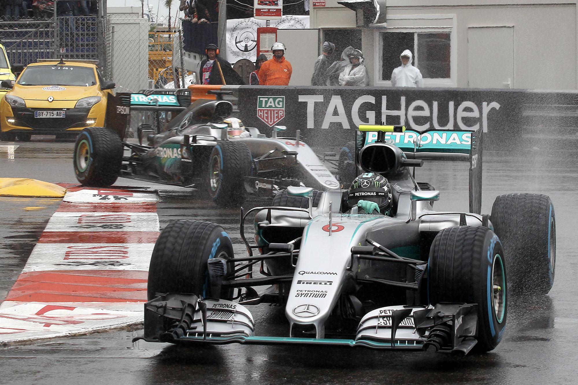 Nico Rosberg Lewis Hamilton Mercedes 2016 Monaco Grand Prix