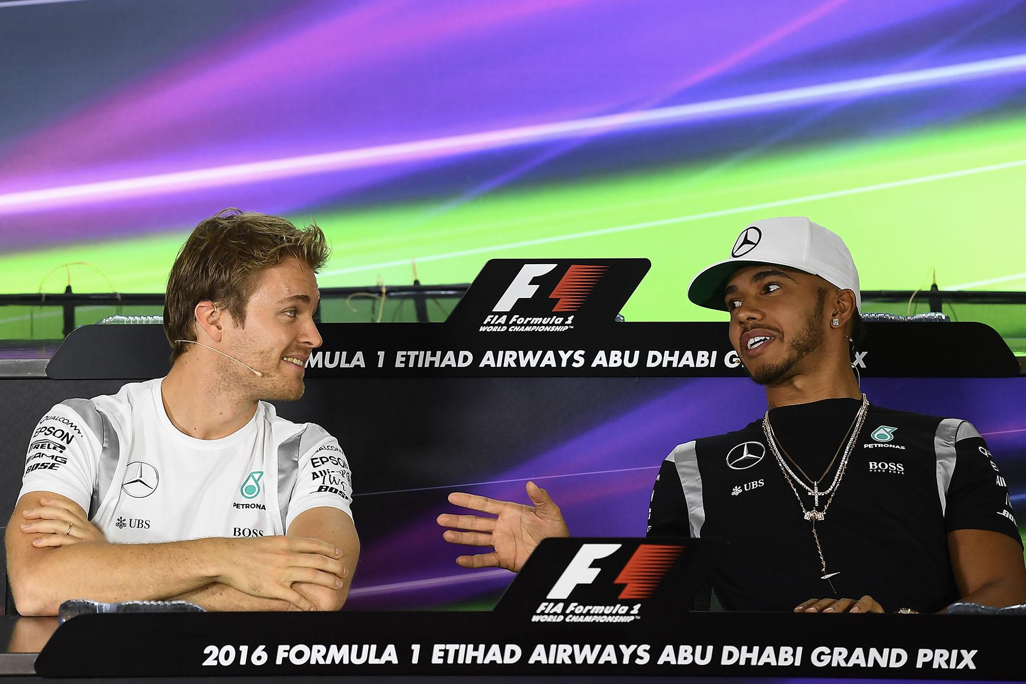 Nico Rosberg Lewis Hamilton Abu Dhabi