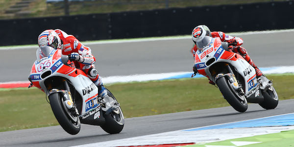 Ducati: all about the middle of the corner